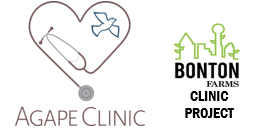 Agape Clinic Bonton Farms Project logos